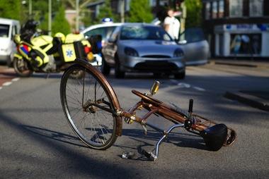 fietser aangereden